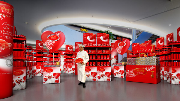 Lindt: Point of Sales Stand Big | Modelling & Rendering