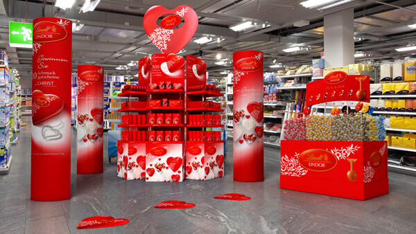 Lindt: Point of Sales Stand Medium | Modelling & Rendering