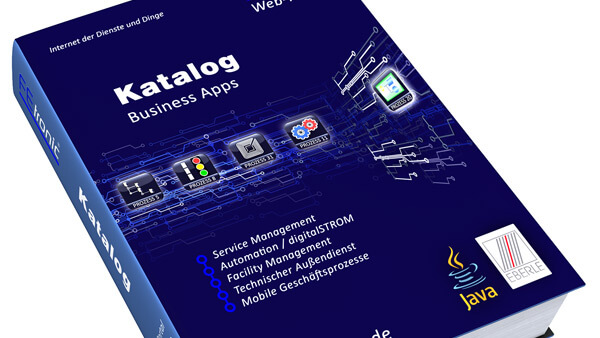 Produktvisualisierung: Business-Apps Katalog / Werbung / Print | Coverdesign | Modelling & Rendering